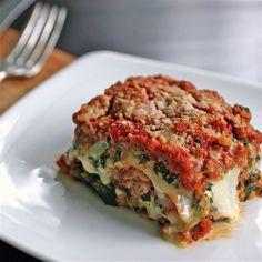 Spinach and Sausage Lasagna | Homemade Food Recipes