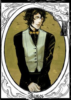 James Herondale - released on Cassandra Clare's Tumblr - drawn by Cassandra Jean