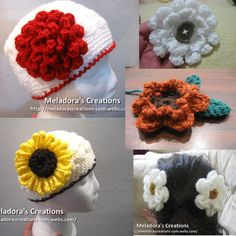 11 Free Flower Patterns with video tutorials - Meladora's Creations