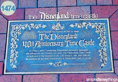 """A time """"castle"""" that will be unlocked on the 80th anniversary of Disneyland on July 17th, 2035!"""