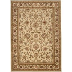 Artistic Weavers�Algeria 94-in x 123-in Rectangular Cream/Beige/Almond Floral Area Rug