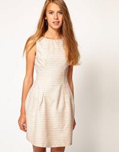 Boucle Lantern Dress
