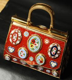 gabbana, designer purses, woman fashion, winter, mosaics, fashion blogs, beads, dolc, women's handbags