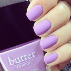 pastel nails 2014, pastel purple nails, shades of purple, spring colors, butter london