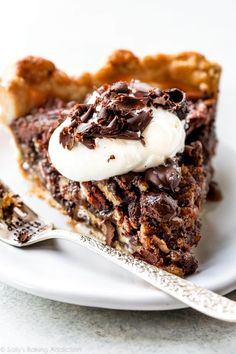 This absolutely delicious and decadent dark chocolate pecan pie with sea salt will disappear from your Thanksgiving dessert table!