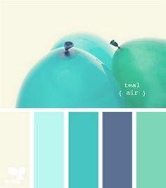 turquoise color palette - great accent colors!