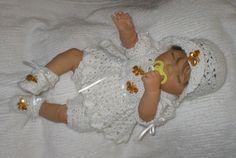 Free Baby Girl Crochet Dress | Cheri's Crochet Baby or reborn baby doll clothing or craftsbycheri