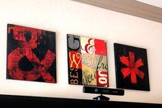 Grunge Wall Art Printable and DIY