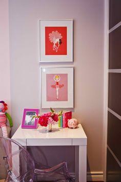Design Reveal: A Modern Toddler Room. Love the modern take on ballet dancers #rhbabyandchild #fallinlove