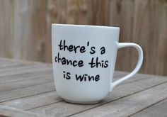 Funny Coffee Mug Personalized with Vodka Saying by FrillsByStudioK
