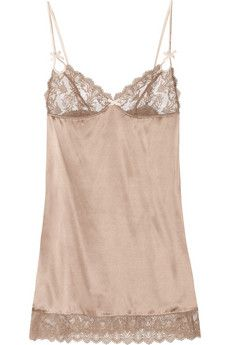 Elle Macpherson Intimates  Obsidian Rita stretch-silk and lace chemise