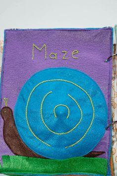 Babes in Deutschland, maze quiet book page
