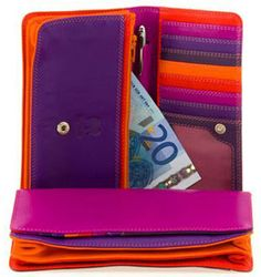 MyWalit makes amazing wallets in the most beautiful colors! These are beautiful -- made from really soft leather with tons of compartments. $96