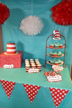 Fun treats at a Dr. Seuss birthday party!  See more party ideas at CatchMyParty.com!