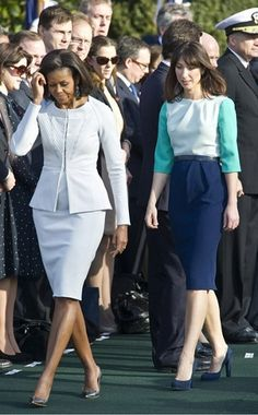 Michelle Obama & Samantha Cameron Style | Spring Business Chic FashionTrends - FocusOnStyle.com  #businesschic #fashionarchives