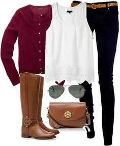 """""""OOTD"""" by classically-preppy ❤ liked on Polyvore. Gorgeous fall look. I'd wear it with cowboy boots..."""