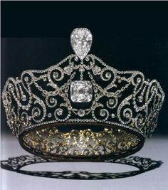 The Delhi Durbar Tiara was designed and constructed by the Crown Jewelers, Garrard & Co. in anticipation of Queen Mary's visit to India. queen elizabeth, king george, crown jewel, tiara, delhi durbar, the queen, british royals, queen mary, royal jewel