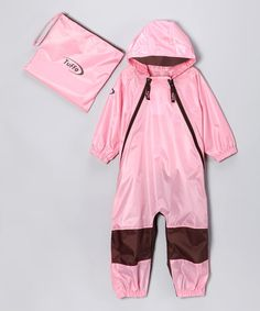 Take a look at this Pink Muddy Buddy Waterproof Coverall - Infant, Toddler & Kids by Tuffo on #zulily today!