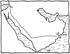 Map of Lehi's Journey Coloring Page church, map, book of mormon