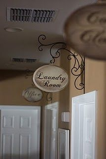 What a cute idea - to label each room like this!