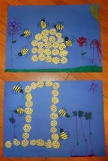 honey bees craft--insect unit or maybe winnie the pooh
