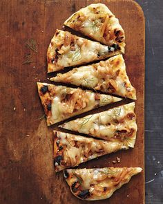Fontina, Fennel, and Onion Pizza
