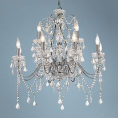 Vienna Full Spectrum Chrome and Crystal Grand Chandelier -