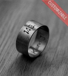 Custom I Love You Secret Message Ring