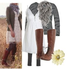 love this romantic outfit - it looks comfy!