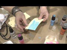 Ranger - YouTube - Tim Holtz Demos Distress Paint from Ranger - CHA 2013