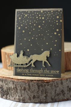 dashing through the snow... try with Aurora Borealis stamps from Club Scrap
