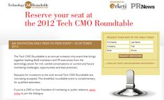 Reserve your seat at the 6th Annual Tech CMO Roundtable, presented by @PR News and Arketi.