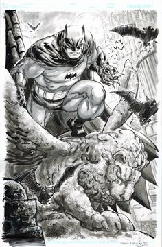 Freddie Williams II posted a bunch of Batman sketches
