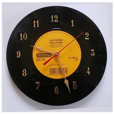 Product: Clock  Company: eBay Green  -Clocks on green.ebay.com are made from recycled material! How cool would it be to have a clock made from a classic record! So cool. #greendorm