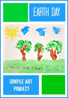 Easy art project for Earth Day. Perfect for preschoolers. Let's talk about trees. #earthdayactivities #earthdaycrafts from www.blogmemom.com