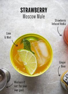 Strawberry Moscow Mules // take a megabite