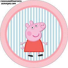 Kit Completo Peppa Pig - Kit Completo com molduras para convites, rótulos para guloseimas, lembrancinhas e imagens! | Fazendo a Nossa Festa