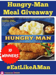 10 winners of a Hungry-Man homestyle meal ~ ENTER MY ‪#‎GIVEAWAY‬ http://freebies4mom.com/hungryman ‪#‎ad‬ and you might win a Hungry-Man meal!!! (ends Oct. 6) ‪#‎EatLikeAMan‬