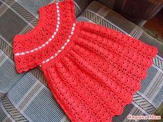 Little Lady Dress free crochet graph pattern