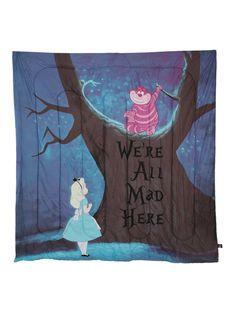 Disney Alice In Wonderland We're All Mad Here Full Comforter | Hot Topic
