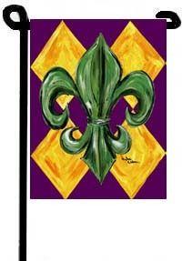 fleur de lis mardi gras flag