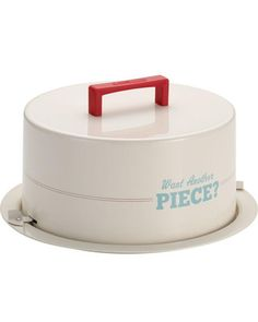 """Want Another Piece"" Cake Carrier"