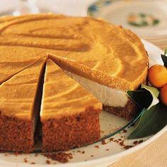 Pumpkin Chiffon Cheesecake #thanksgiving #fall #pumpkin #dessert #holidays