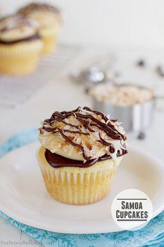 Samoa Cupcakes #cupcake #recipe