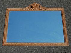 "Vintage Decorative Antique Gold Wood Rectangular Wall Mirror 26"" x 18"" EUC | eBay"