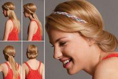 Recogido con cinta, encuentra más estilos de peinados para cada día aquí, http://www.1001consejos.com/peinados-para-cada-dia/