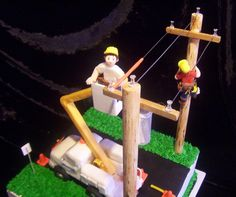 This a great cake for my lineman brother!!! Must do!!!