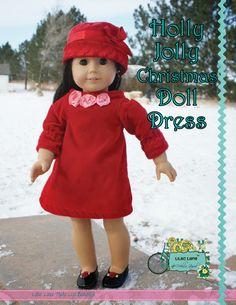 free american girl christmas dress