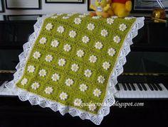 Magia do Crochet: colcha em crochet para bebé com pap