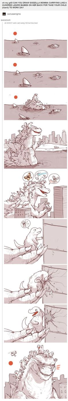 Godzilla momma would be the best parent.